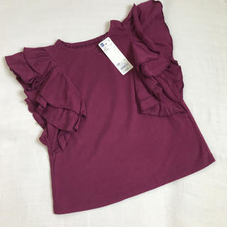 GU - 新品ジーユー女の子120フリル袖定価1089半袖