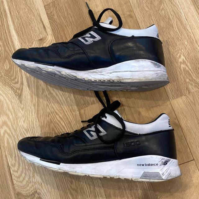 New Balance(ニューバランス)のニューバランス1500 made in UK レザー BLACK  メンズの靴/シューズ(スニーカー)の商品写真
