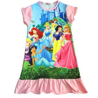 ディズニー(Disney)のプリンセス パジャマ 半袖 ワンピース 130 140サイズ(パジャマ)