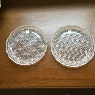 トウヨウササキガラス(東洋佐々木ガラス)の新品 ササキクリスタル 中皿 ペアセットで1200円(食器)
