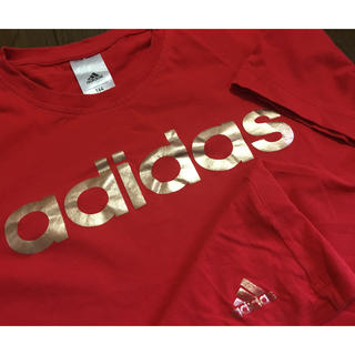 アディダス(adidas)のadidas✴︎kids164✴︎半袖ロゴTシャツ(Tシャツ/カットソー)