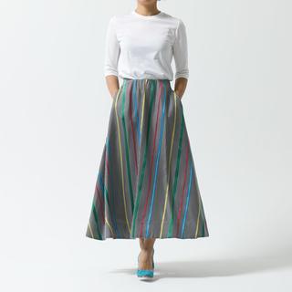 Drawer - SHE Tokyo Elliy gingam stripe ロングスカート