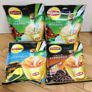 【未開封】リプトン 台湾 4袋セット ミルクティー 訳あり(茶)
