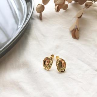 トゥデイフル(TODAYFUL)の【Silver 925】nuance beans pirce -gold-(ピアス)
