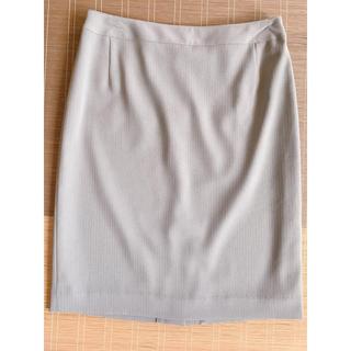 UNTITLED - !UNTITLED⭐︎スーツ スカート ライトグレー ストライプ サイズ3