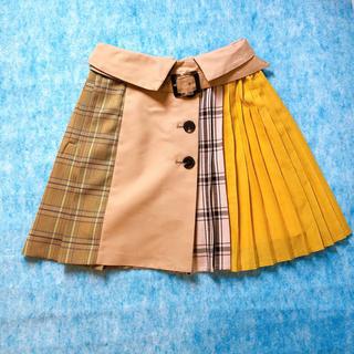 レディアゼル(REDYAZEL)の異素材 配色 スカート風キュロット(キュロット)