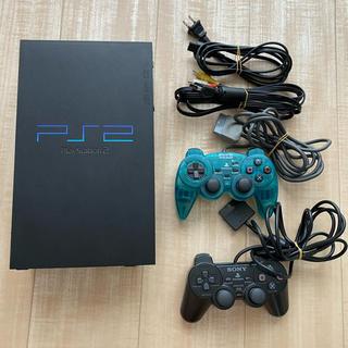 プレイステーション2(PlayStation2)のPS2 本体とコントローラー2つ、ソフト6セット(家庭用ゲーム機本体)