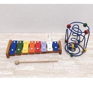 鉄琴 おもちゃ 知育玩具 シロフォン 木のおもちゃ ルーピング