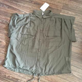 ケービーエフ(KBF)のKBF 新品タグ付き フラップポケットサファリシャツ(シャツ/ブラウス(半袖/袖なし))