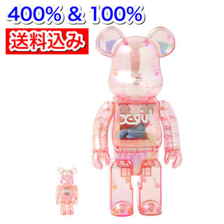 MEDICOM TOY - X-girl × BE@RBRICK 400% & 100% ピンク