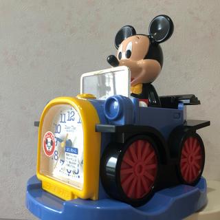 ディズニー(Disney)のミッキー 置き時計(新品)(置時計)