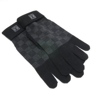 ルイヴィトン(LOUIS VUITTON)の未使用 ヴィトン ダミエ グラフィット 手袋 グローブ M70006(手袋)