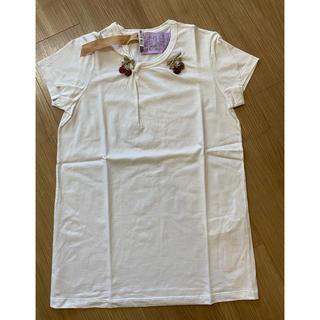 ヌメロヴェントゥーノ(N°21)のヌメロ   サクランボビジューTシャツ(Tシャツ(半袖/袖なし))