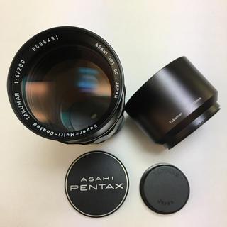 ペンタックス(PENTAX)の美品 PENTAX M42 SMC TAKUMAR 200mm F4 付属付(レンズ(単焦点))