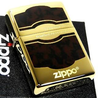 ジッポー(ZIPPO)の送料無料☆zippo☆ゴールドブラウン☆モンパルナス②☆金タンク☆ジッポ(タバコグッズ)