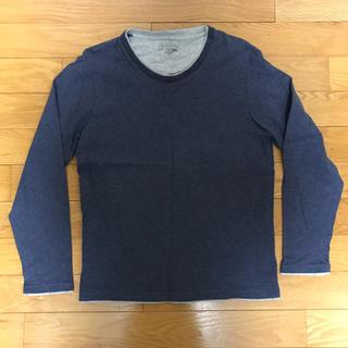 シマムラ(しまむら)のロンT  ロングTシャツ クルーネック ブルー ネイビー(Tシャツ/カットソー(七分/長袖))