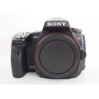 ソニー(SONY)の【ジャンク】SONY α33 カメラ本体のみ(デジタル一眼)