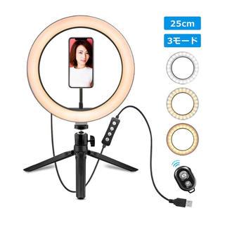 LEDリングライトカメラ USBライト(テーブルスタンド)