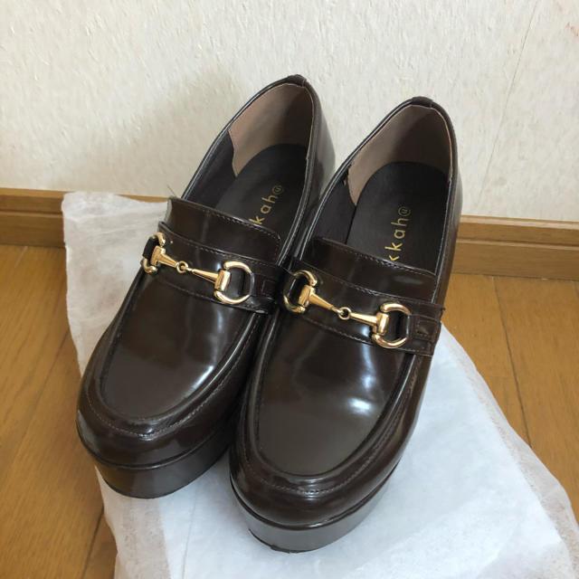 WEGO(ウィゴー)のWEGO 厚底ローファー レディースの靴/シューズ(ローファー/革靴)の商品写真