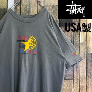 STUSSY - 希少 USA製 ステューシー ビッグロゴ アースカラー OLD Tシャツ XL