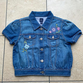 ギャップキッズ(GAP Kids)のギャップキッズ 刺繍 デニムジャケット(ジャケット/上着)