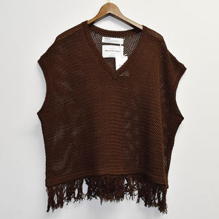 Jieda - Dairiku 20ss Fringe Net knit Vest