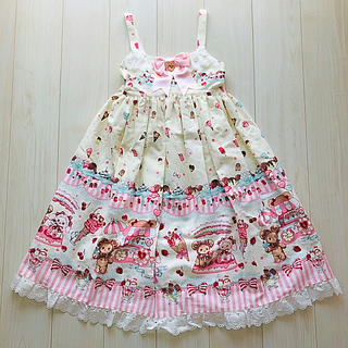 BABY,THE STARS SHINE BRIGHT - BABY♡くみゃちゃんのsweet ice cream柄ジャンパースカートII型
