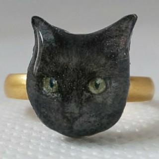 黒猫 リング(リング(指輪))