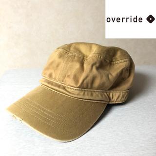 オーバーライド(override)のOVERRIDE ワークキャップ 帽子 ビンテージ ベージュ(キャップ)