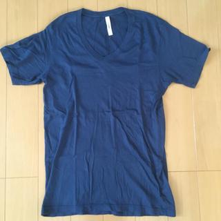 アタッチメント(ATTACHIMENT)のアタッチメント スーピマコットン Vネック Tシャツ ネイビー ブルーセット(Tシャツ/カットソー(半袖/袖なし))