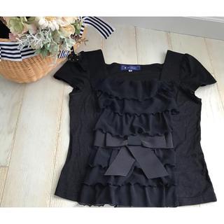 M'S GRACY - エムズグレイシー  フリル&リボン Tシャツ 38サイズ