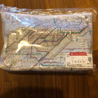 路線図 首都圏ポーチ 白(鉄道)