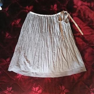 エムケークランプリュス(MK KLEIN+)のプリーツスカート(ひざ丈スカート)