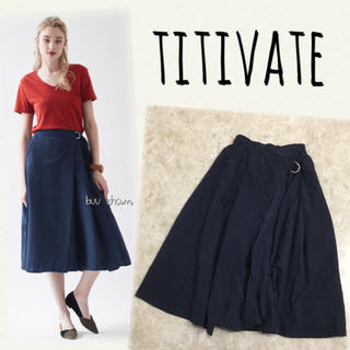 titivate - titivate♡Dカン付きフレアラップスカート ピーチスキン