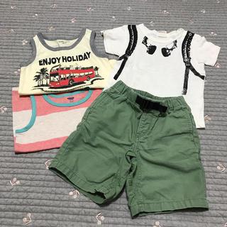 ベビーギャップ(babyGAP)のベビーギャップ★カーキ ハーフパンツ&Tシャツおまとめ4点セット(パンツ/スパッツ)