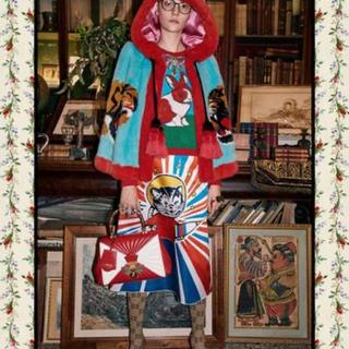 グッチ(Gucci)の【 特価】GUCCI グッチ キャット シルク スカート 新品(ロングスカート)