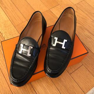 Hermes - HERME'S ローファー シルバーカラー