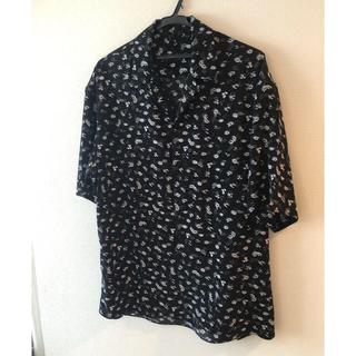 LAD MUSICIAN - 19ss flower  open collar big shirt