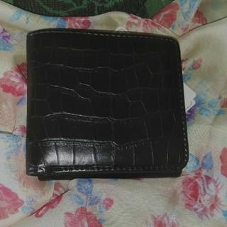 シマムラ(しまむら)の未使用✫プチプラのあやさん財布✫黒クロコ(財布)