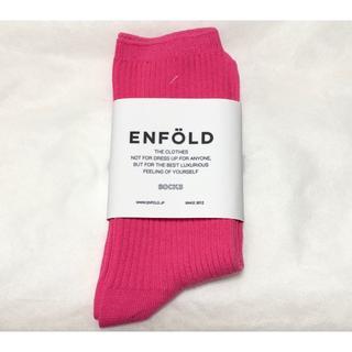 エンフォルド(ENFOLD)の新品 ENFOLD エンフォルド リブソックス(ソックス)