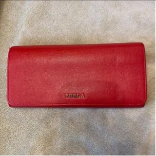 Furla - FURLA  赤の長財布