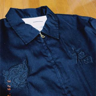 ビューティアンドユースユナイテッドアローズ(BEAUTY&YOUTH UNITED ARROWS)のmonkey time 刺繍 コーチジャケット 黒(ブルゾン)