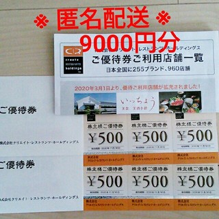 クリエイトレストランツ 株主優待(レストラン/食事券)
