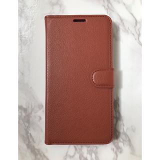 ギャラクシー(Galaxy)の日本版&人気商品☆GalaxyS9 シンプルレザー手帳型ケース ブラウン 茶色(Androidケース)