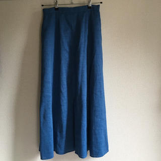 バンヤードストーム(BARNYARDSTORM)のバンヤードストーム 水色 リネンスカート(ロングスカート)