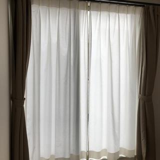 ウニコ(unico)のウニコ unico レースカーテン・2枚組 幅100×丈198cm フック付(レースカーテン)