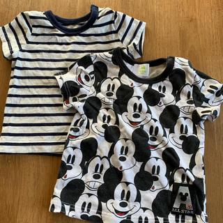 Disney - ディズニー ミッキーTシャツ ボーダーTシャツ 60〜70
