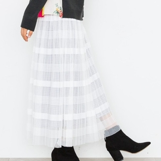 ミュベールワーク(MUVEIL WORK)のミュベール ワーク チェック スカート(ロングスカート)