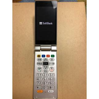 シャープ(SHARP)のかんたん携帯9 505SH プラチナシルバー(4G端末)(携帯電話本体)