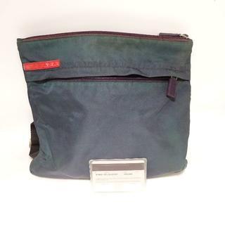 プラダ(PRADA)のプラダスポーツ ナイロンショルダーバッグ 111 深緑 グリーンカラー(ショルダーバッグ)